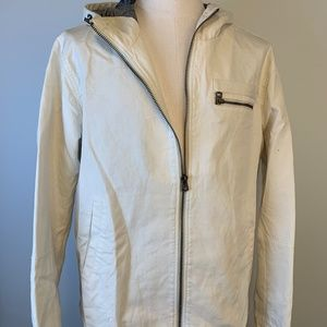 White Canvas Military Jacket by Levi's XL New $180
